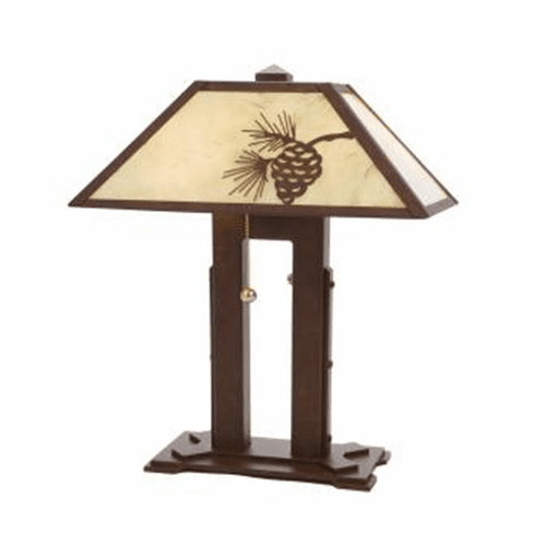 Arts and Crafts Mission Double Desk Lamp