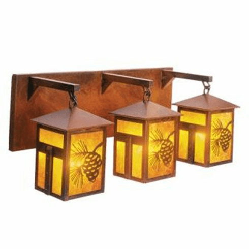 Arts And Crafts Mission Lake Triple Vanity Light 18 Png