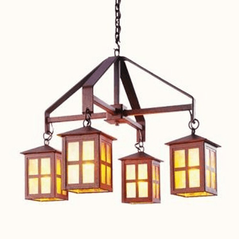 Arts and Crafts Old Faithful Large Chandelier