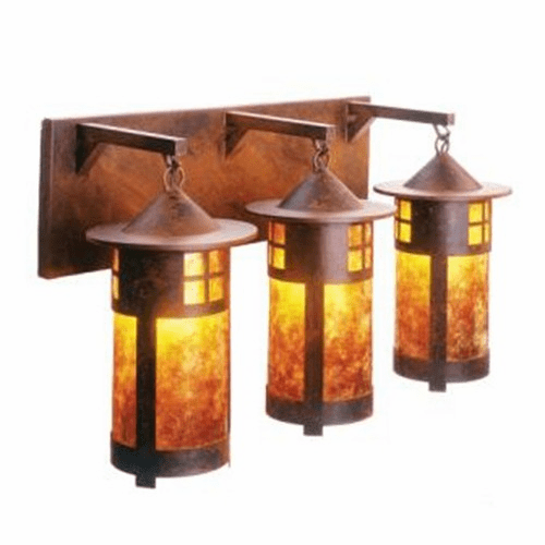 Arts and Crafts Pasadena Triple Vanity Light