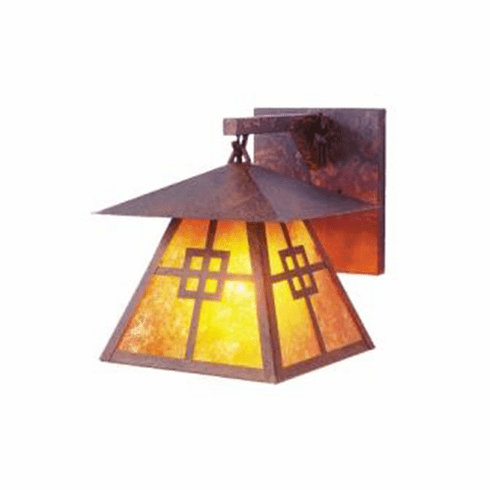 Arts and Crafts Prairie Hanging Sconce