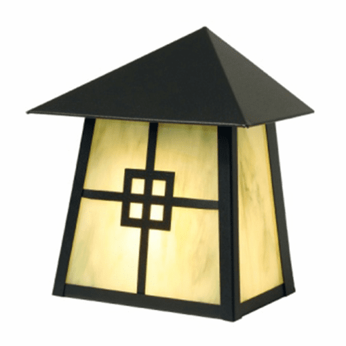 Arts and Crafts Prairie Tri Roof Wall Sconce