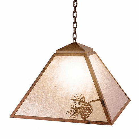 Arts and Crafts Swag Mission Pendant Light