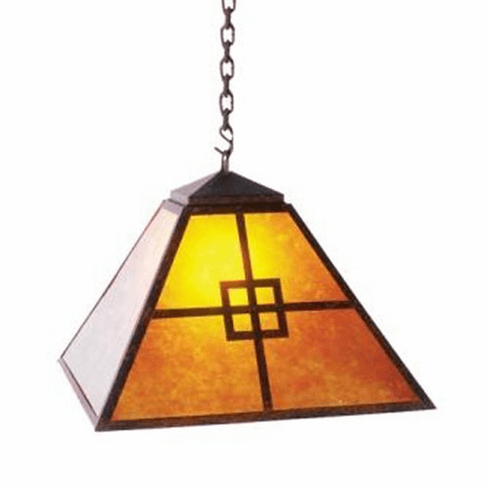 Arts and Crafts Swag Prairie Pendant Light