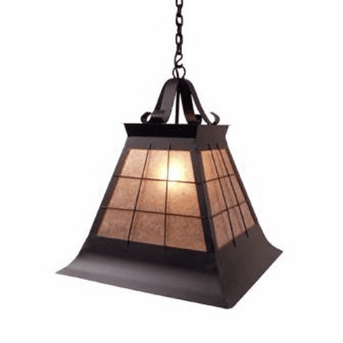 Arts and Crafts Topridge Large Pendant Light