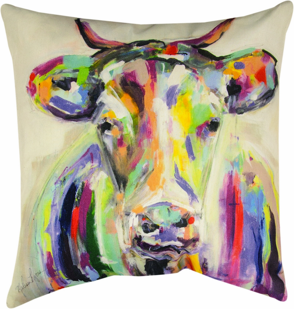 Artsy Cow Climaweave Pillow