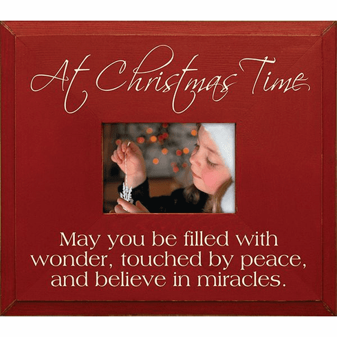 At Christmas Time - May You Be Filled with Wonder...Frame