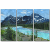 Athabasca River Metal Artwork