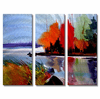 Autumn at the Lake Metal Wall Art