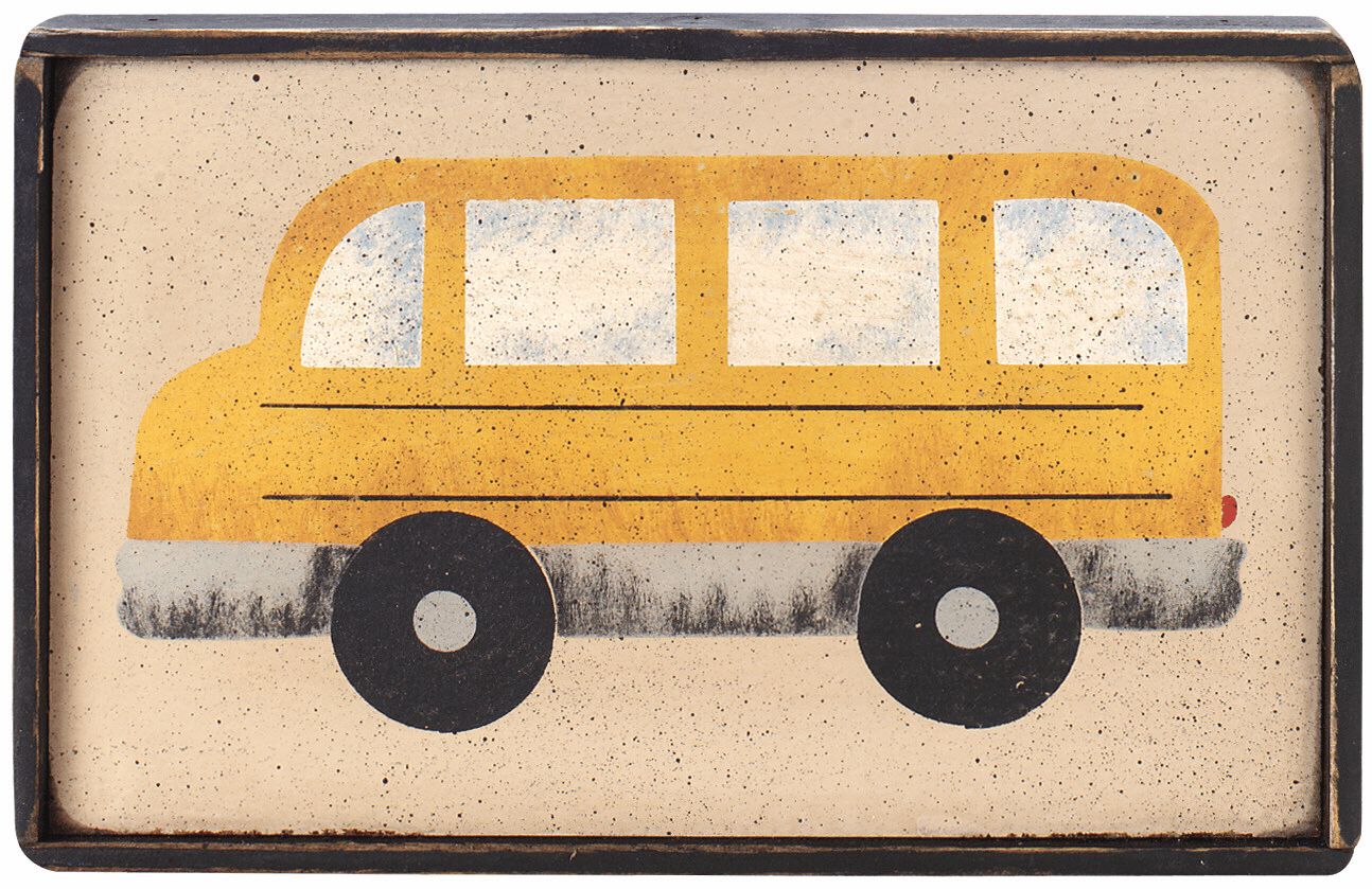 Back to School Gift - School Bus Sign  (You Personalize It)