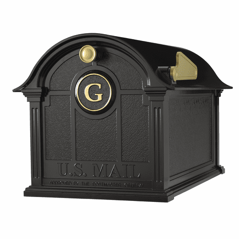Balmoral Mailbox Monogram Package in Black