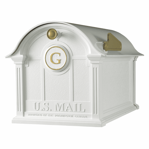 Balmoral Mailbox Monogram Package in White