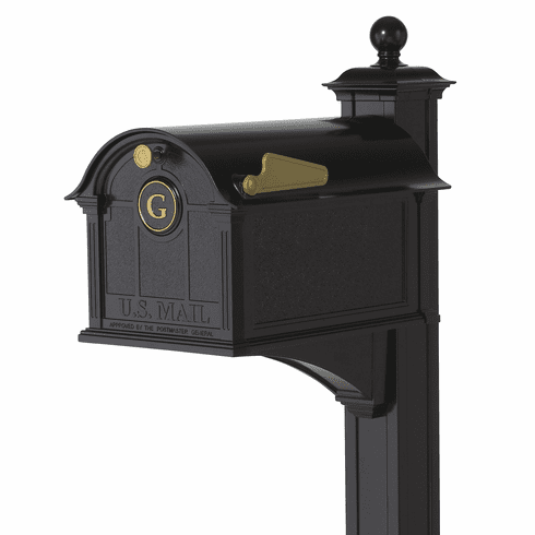 Balmoral Mailbox Monogram & Post Package in Black