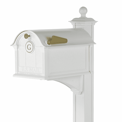 Balmoral Mailbox Monogram & Post Package in White