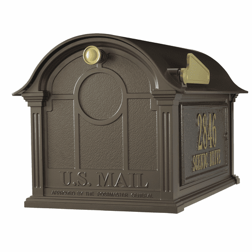 Balmoral Mailbox Side Plaques Package in Bronze