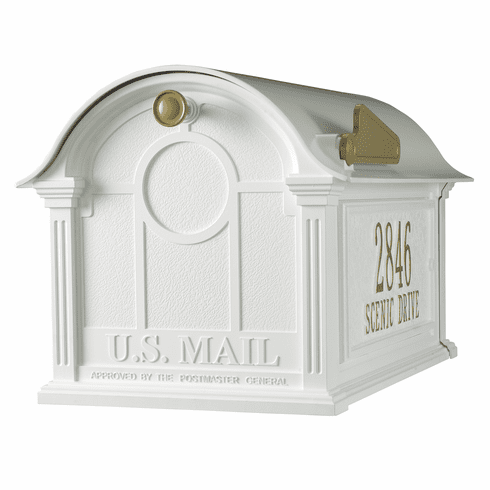 Balmoral Mailbox Side Plaques Package in White