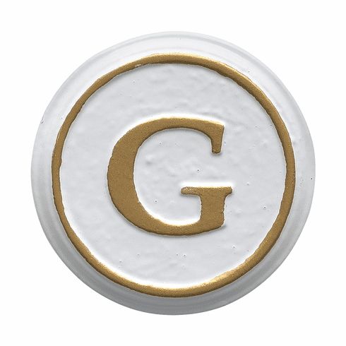 Balmoral Personalized Monogram in White