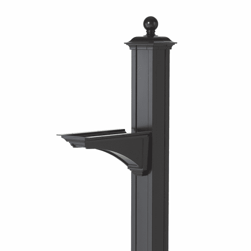 Balmoral Post & Bracket With Ball Finial in Black