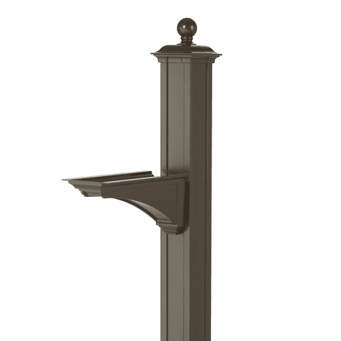 Balmoral Post & Bracket With Ball Finial in Bronze