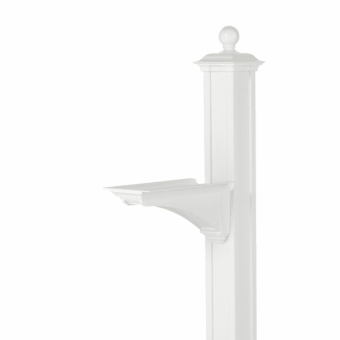 Balmoral Post & Bracket With Ball Finial in White