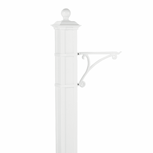 Balmoral Post Plant Hanger in White