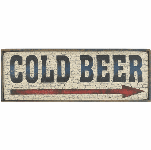 Bar Sign - Cold Beer w/Arrow