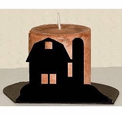 Barn Silhouette Candle Holder
