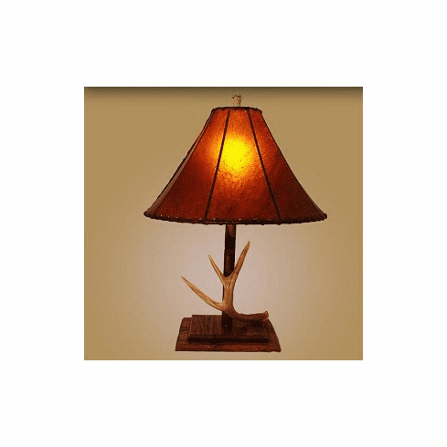 Barnwood Based Antler Table Lamp