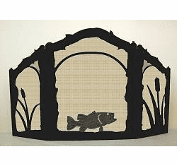 Bass Arched or Straight Top Fireplace Screen