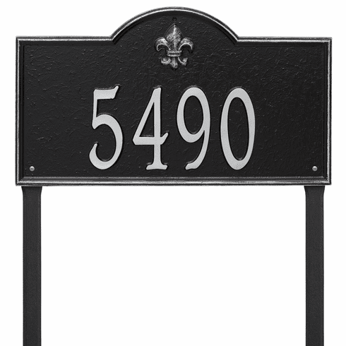 Bayou Vista Estate Lawn One Line Plaque in Black and Silver
