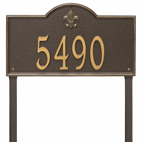 Bayou Vista Estate Lawn One Line Plaque in Bronze and Gold