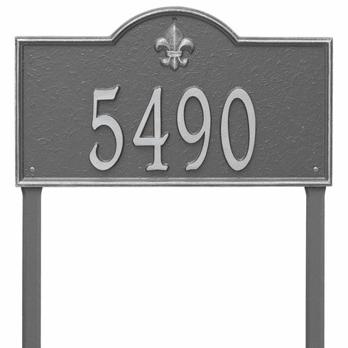 Bayou Vista Estate Lawn One Line Plaque in Pewter Silver