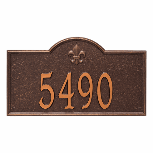 Bayou Vista Estate Wall One Line Plaque in Antique Copper
