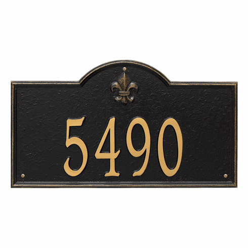 Bayou Vista Estate Wall One Line Plaque in Black and Gold