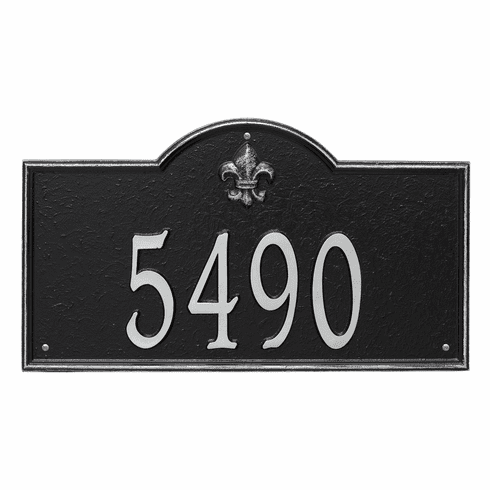 Bayou Vista Estate Wall One Line Plaque in Black and Silver