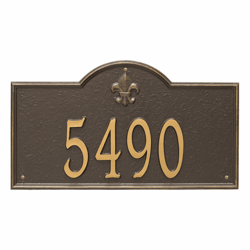 Bayou Vista Estate Wall One Line Plaque in Bronze and Gold