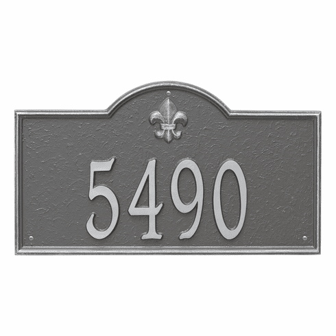 Bayou Vista Estate Wall One Line Plaque in Pewter Silver