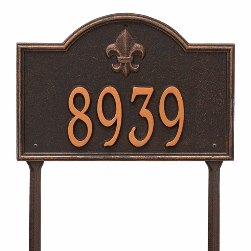 Bayou Vista Standard Lawn One Line Plaque in Oil Rubbed Bronze
