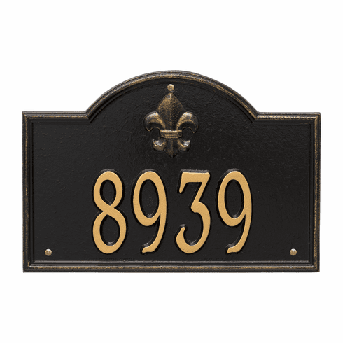 Bayou Vista Standard Wall One Line Plaque in Black and Gold
