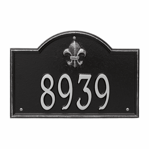 Bayou Vista Standard Wall One Line Plaque in Black and Silver