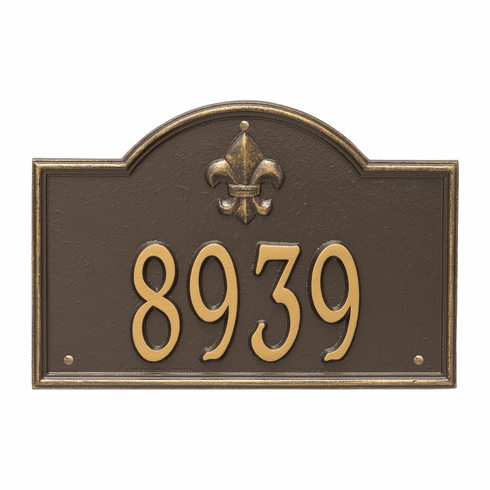 Bayou Vista Standard Wall One Line Plaque in Bronze and Gold