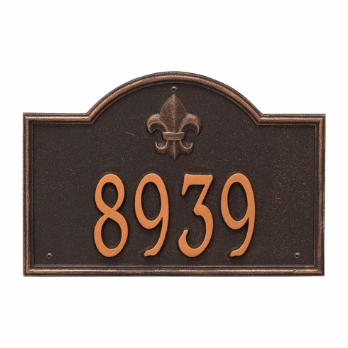 Bayou Vista Standard Wall One Line Plaque in Oil Rubbed Bronze