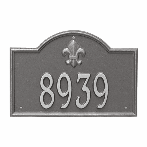 Bayou Vista Standard Wall One Line Plaque in Pewter Silver