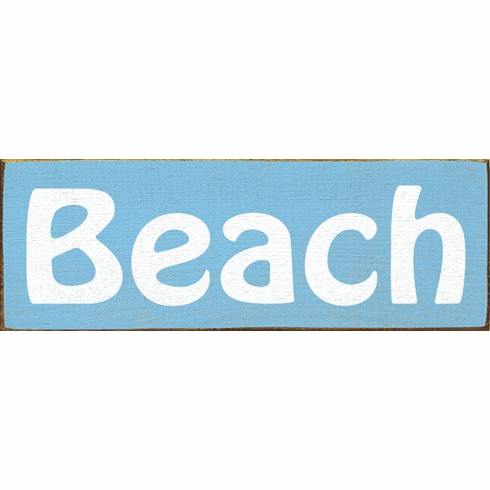 Beach & Lake Sign...Beach
