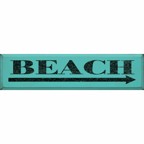 Beach & Lake Sign...Beach (9x36) (right arrow)