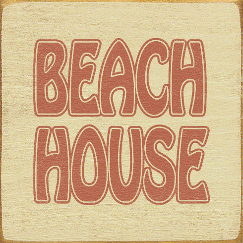 Beach & Lake Sign...Beach House (Tile)