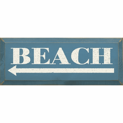 Beach & Lake Sign...Beach (leftarrow)