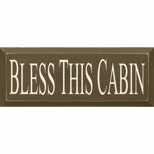 Beach & Lake Sign...Bless This Cabin