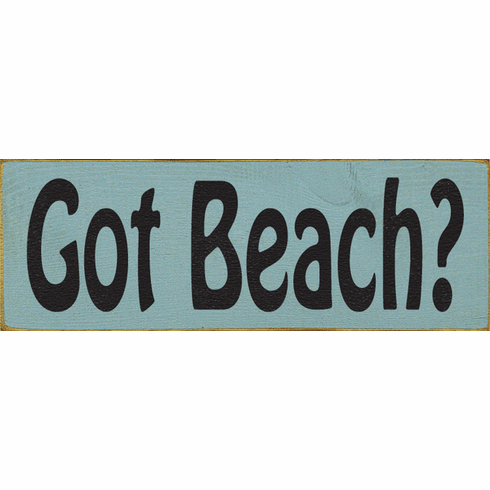 Beach & Lake Sign...Got Beach