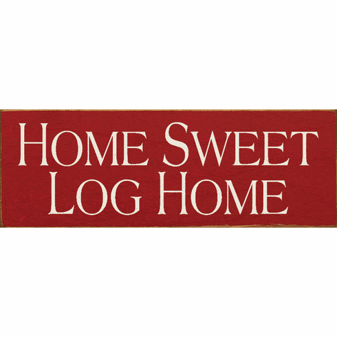 Beach & Lake Sign...Home Sweet Log Home (Small)
